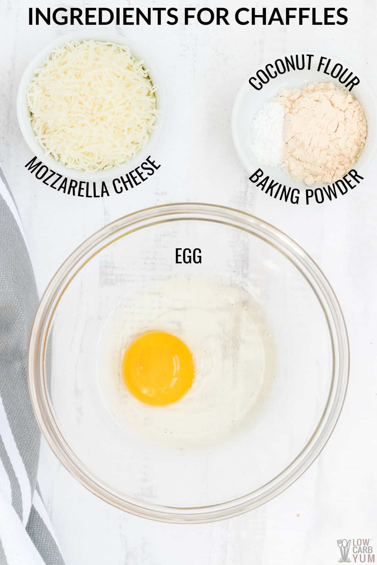 ingredients needed to make keto chaffles