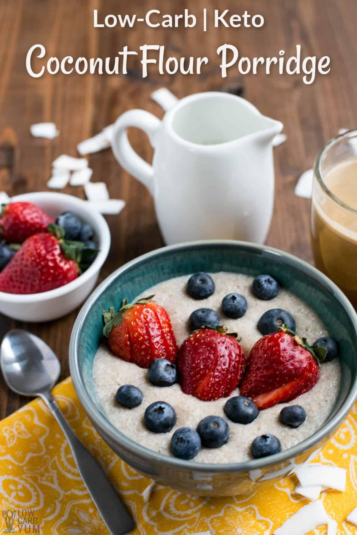 coconut flour porridge cover image