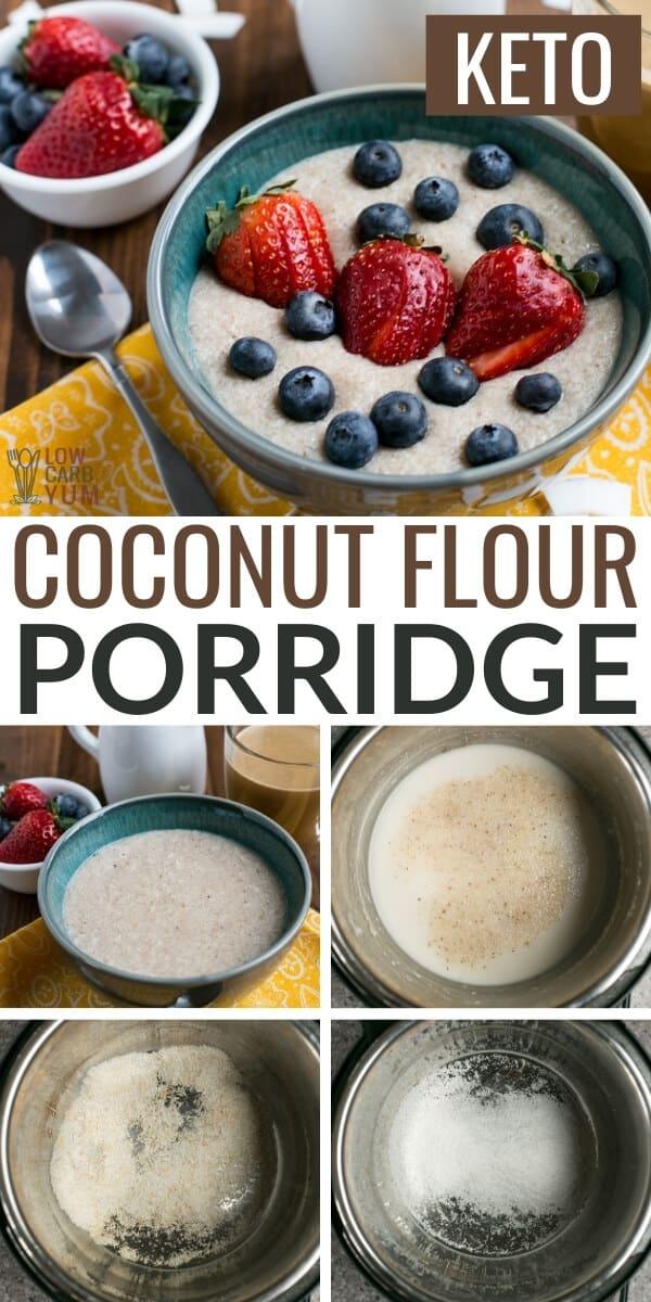 coconut flour porridge pinterest image
