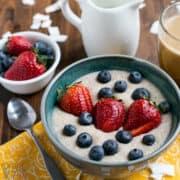 keto coconut flour porridge featured image
