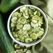 cucumber chips recipe featured image