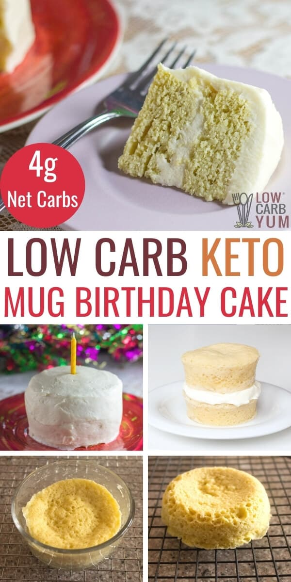 keto birthday mug cake pinterest image