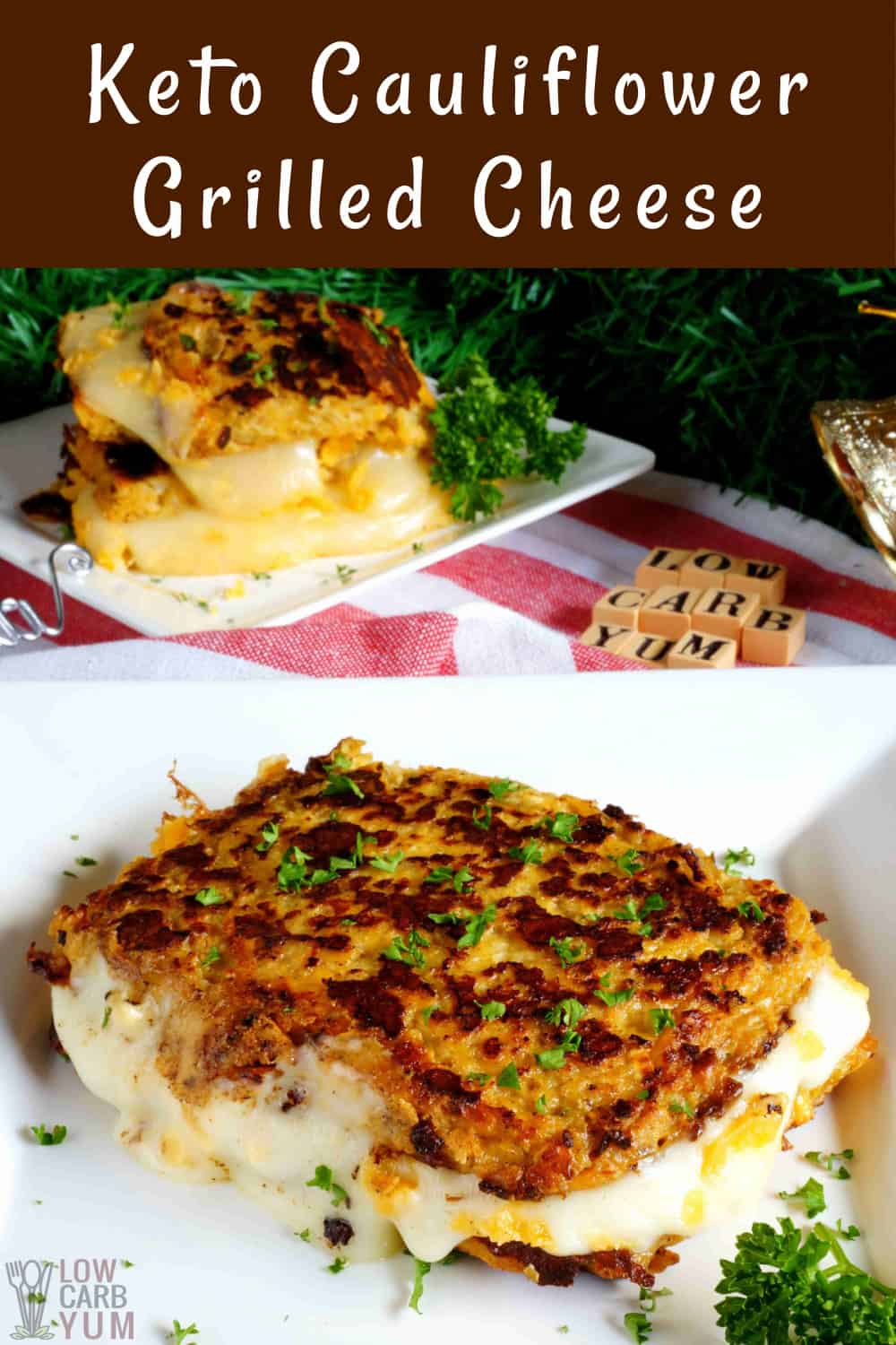 keto cauliflower grilled cheese cover image
