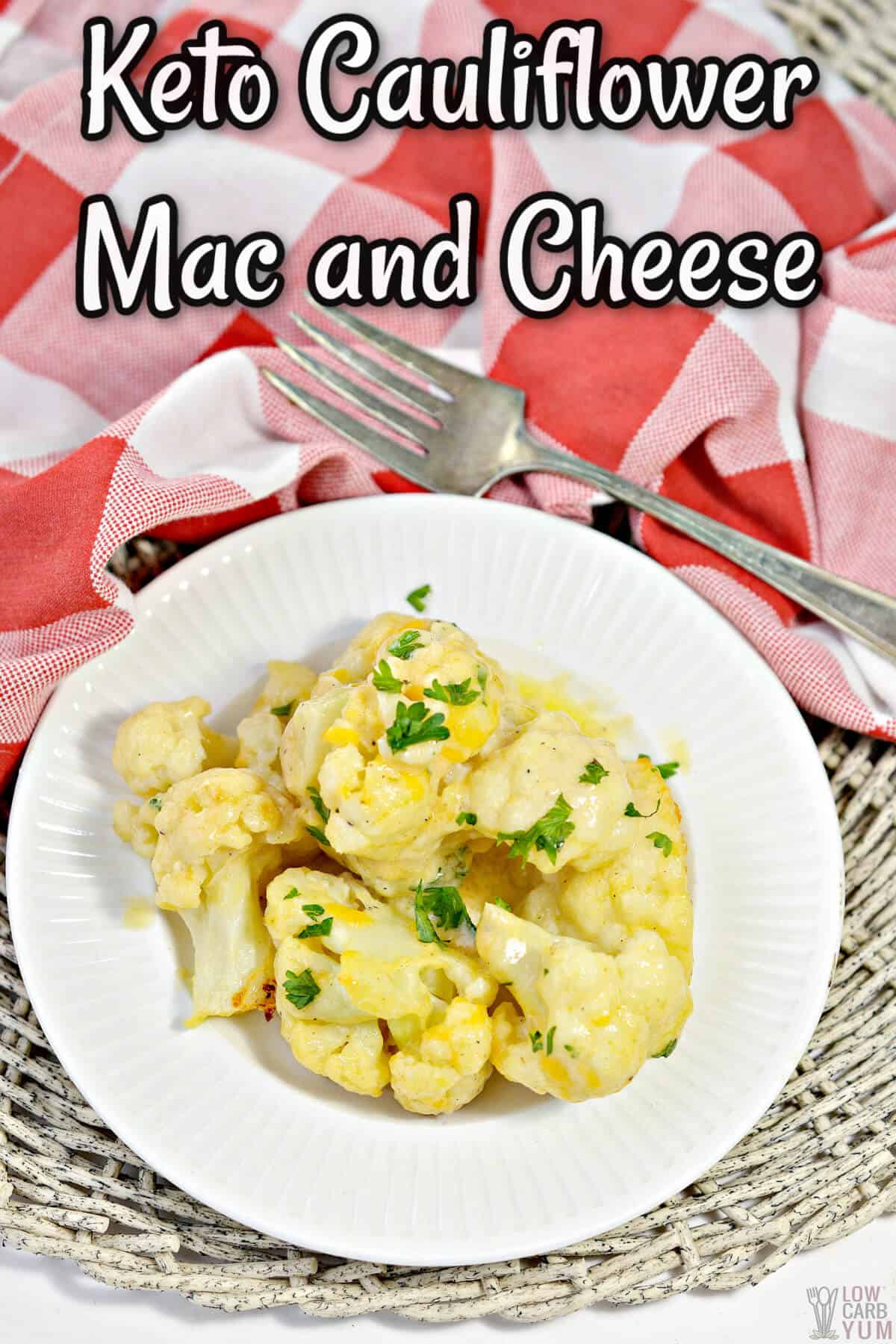 keto cauliflower mac and cheese cover image