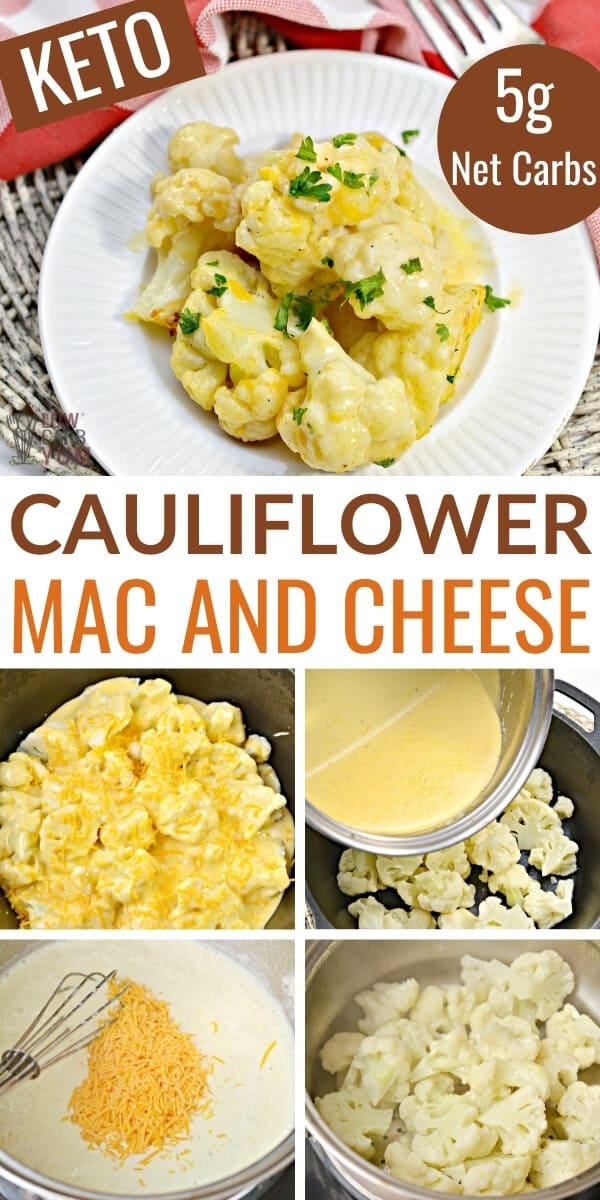 cauliflower mac and cheese pinterest image