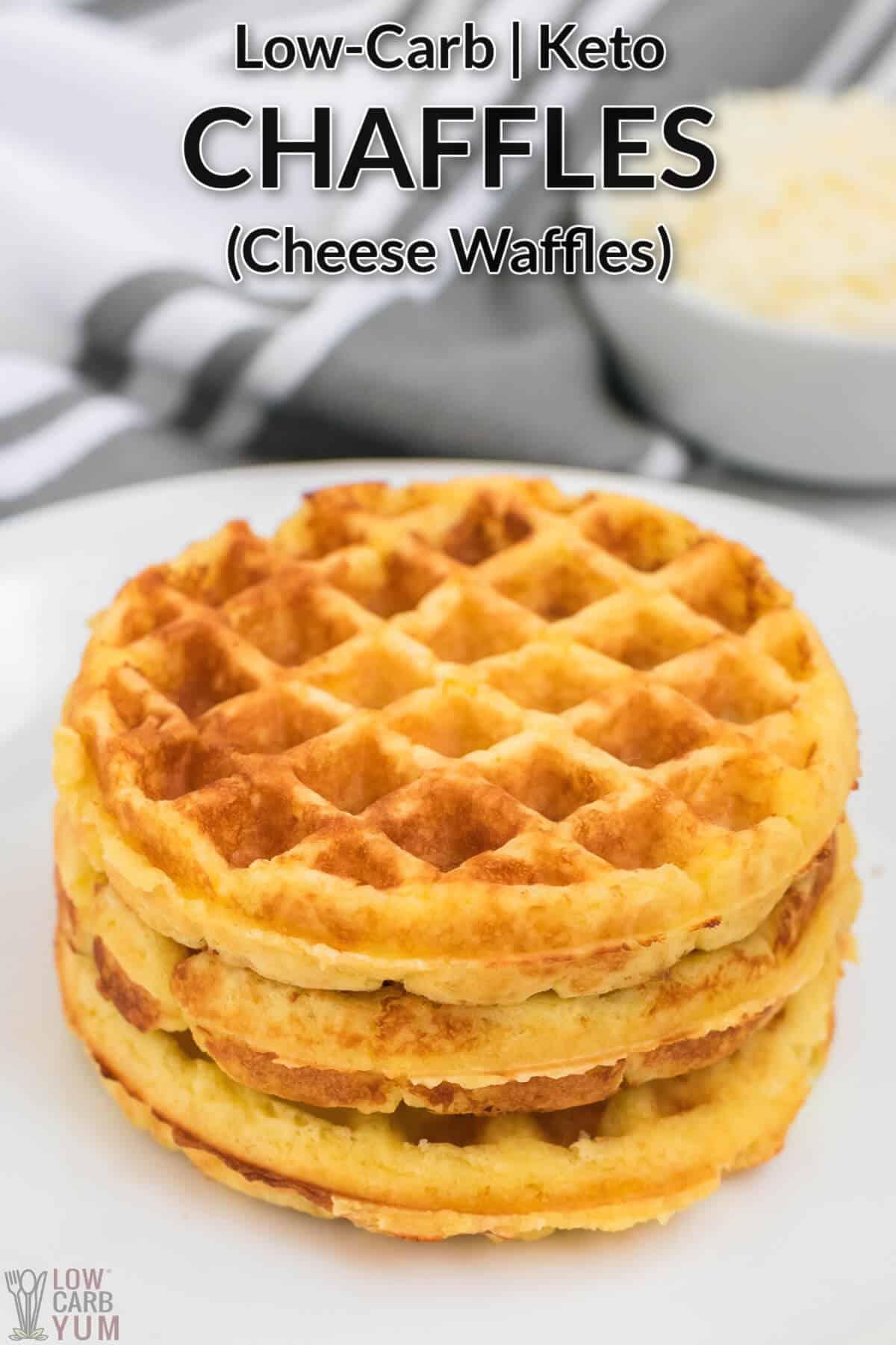 keto chaffles cheese waffles recipe cover image