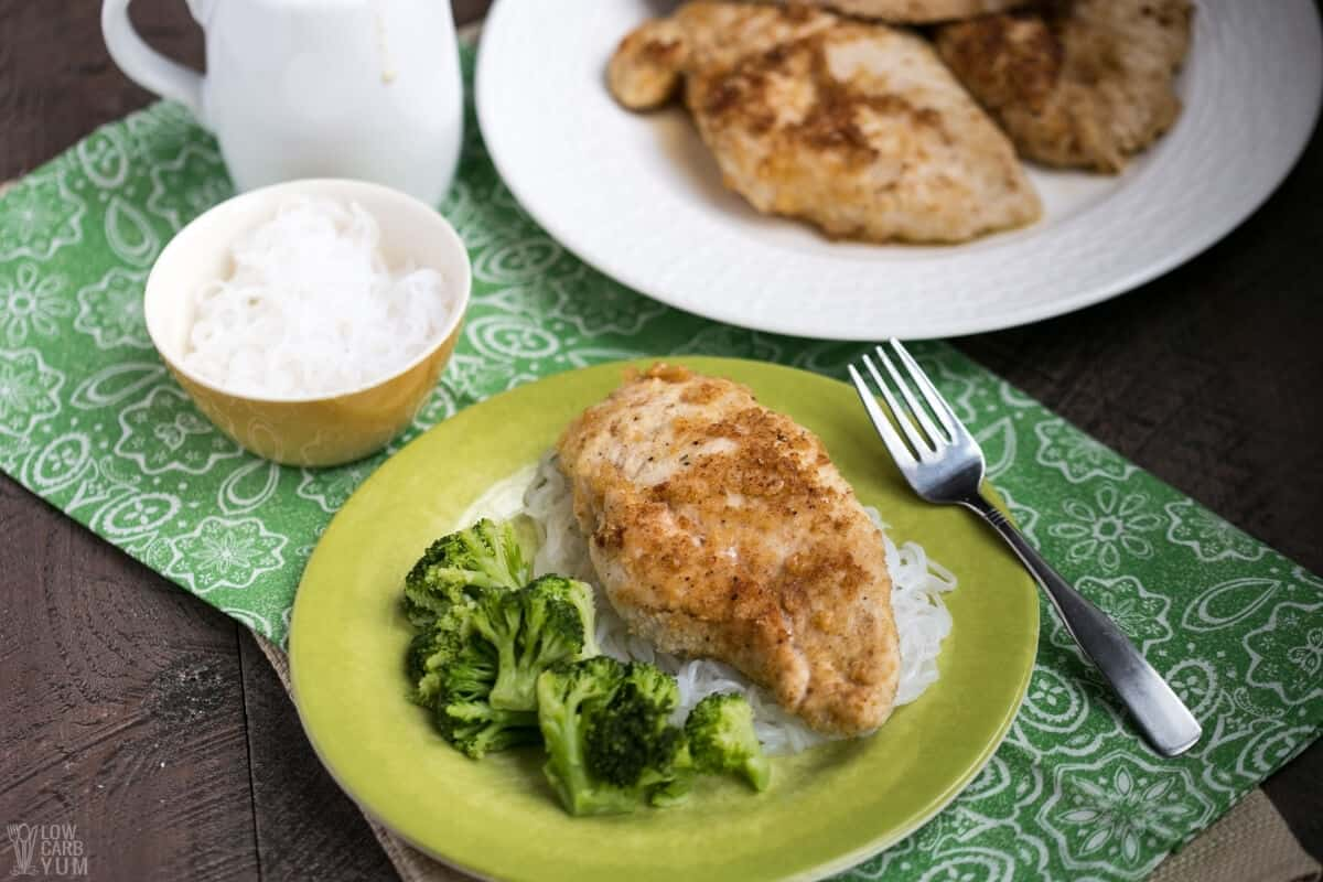 low carb chicken piccata without sauce