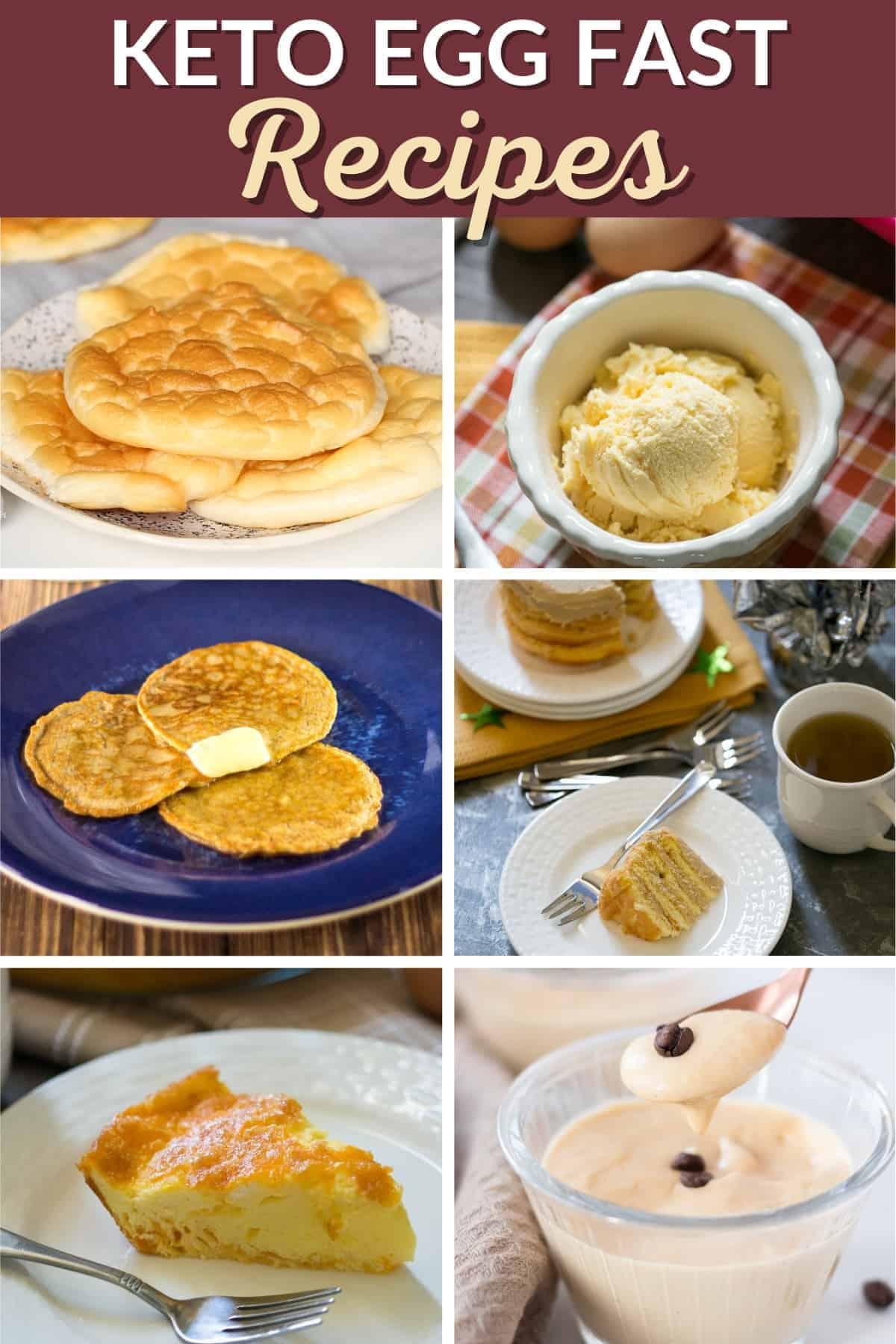 keto egg fast recipes pinterest image