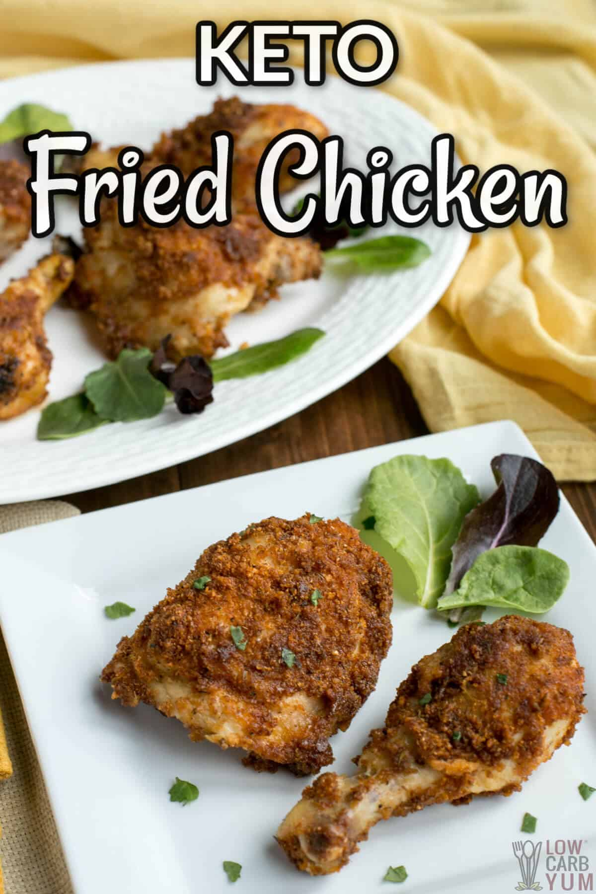 keto fried chicken in air fryer or oven with pork rinds