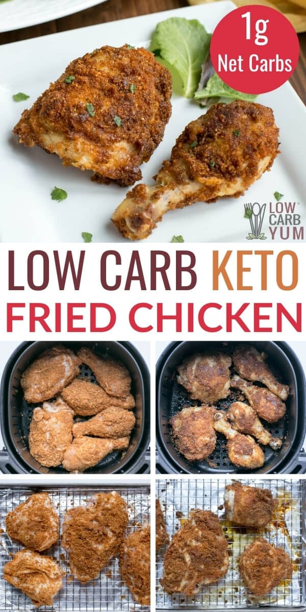keto fried chicken recipe in air fryer or oven