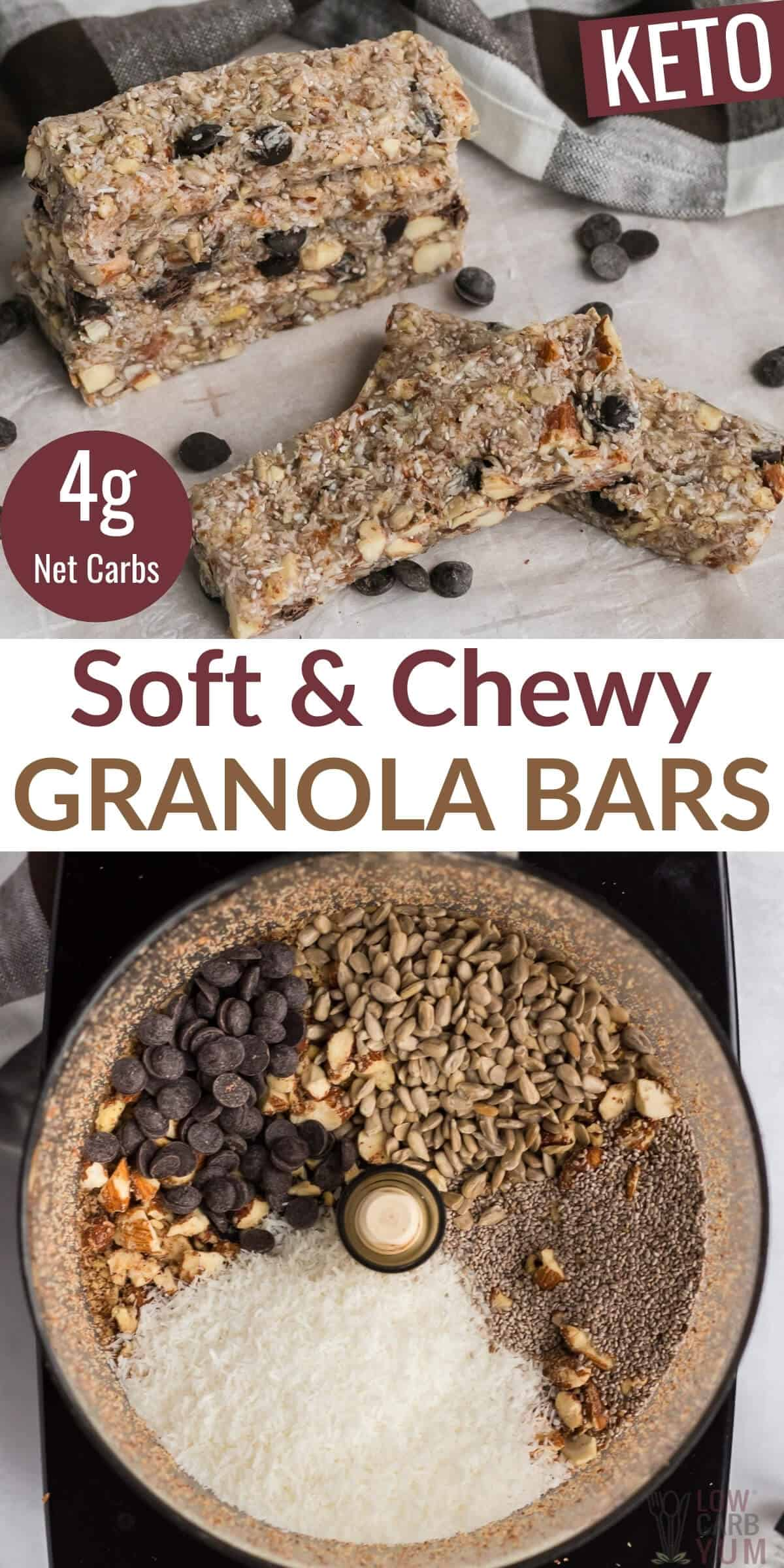 soft and chew granola bars pinterest image