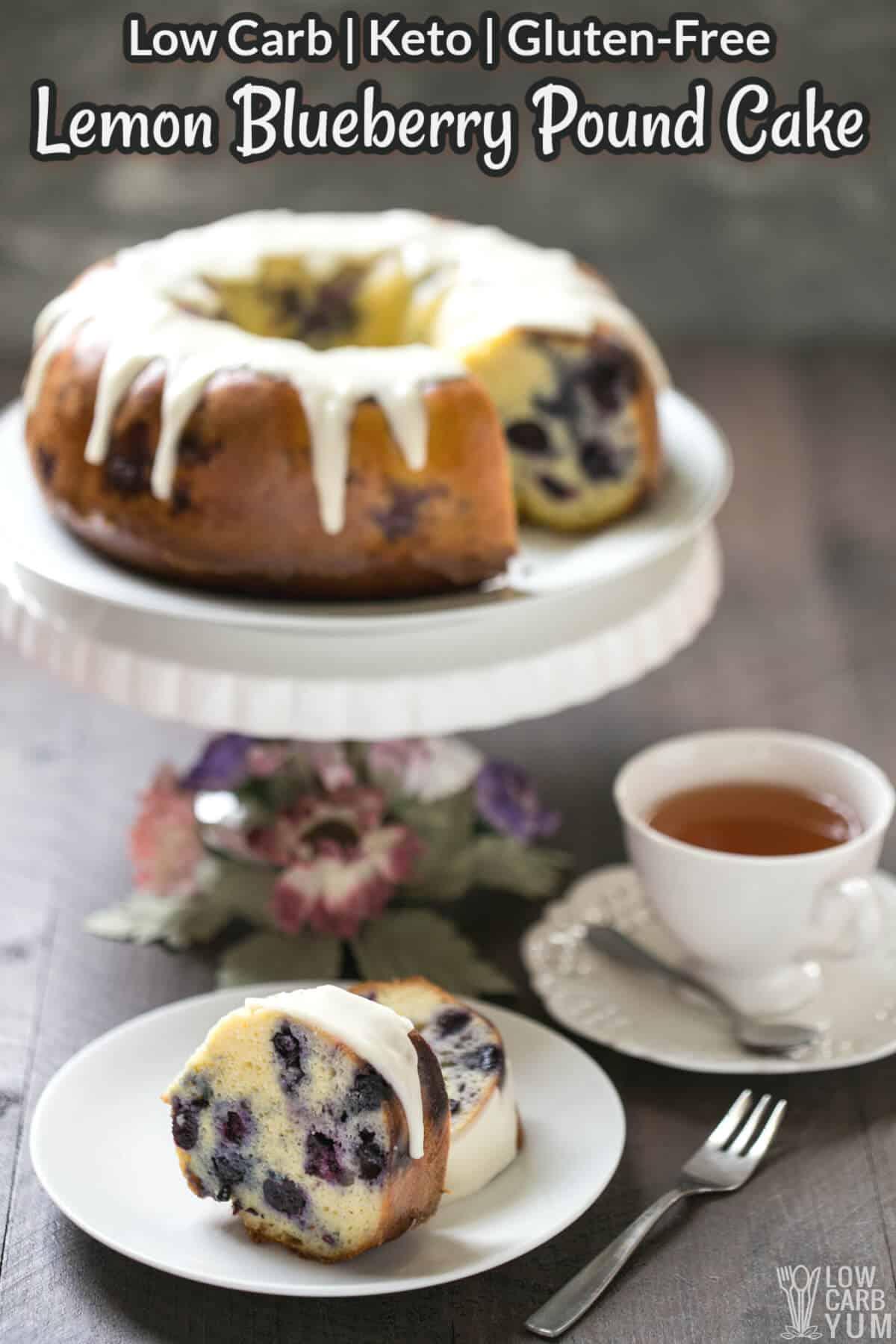 keto lemon blueberry pound cake cover image