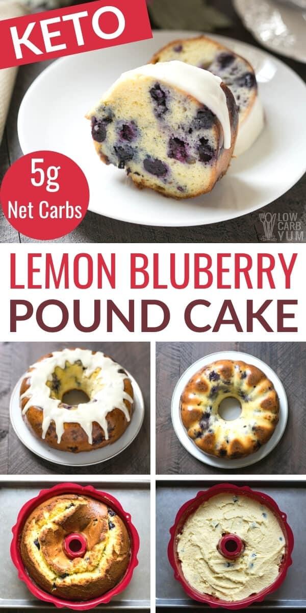 keto lemon blueberry pound cake pinterest