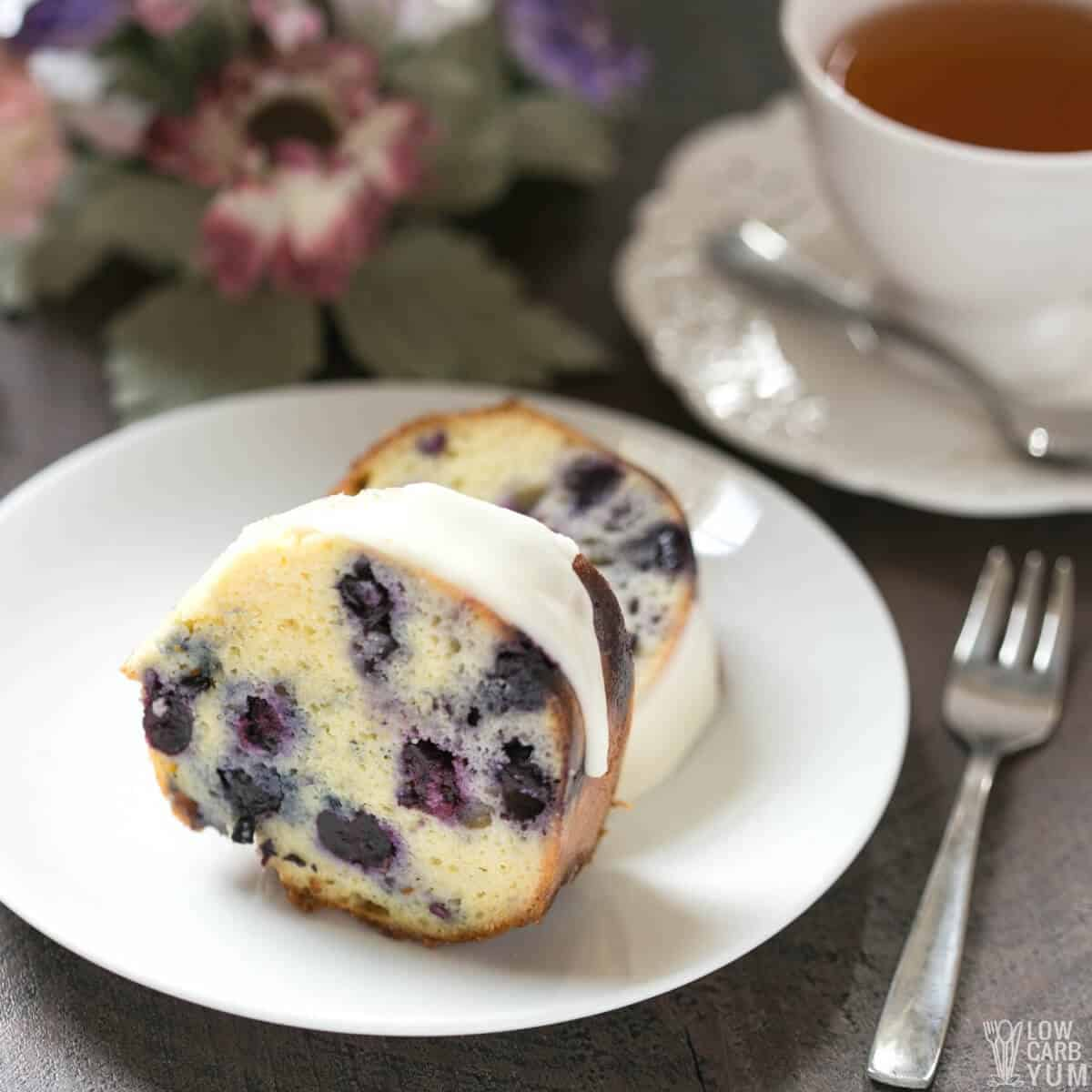 keto lemon blueberry pound cake featured image