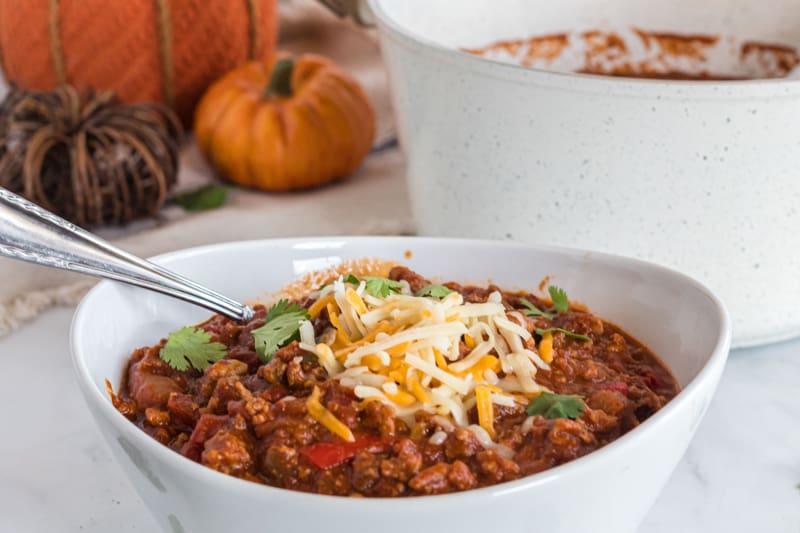 spicy pumpkin chili