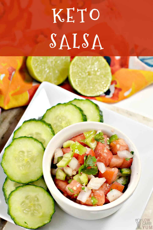 keto salsa recipe cover image
