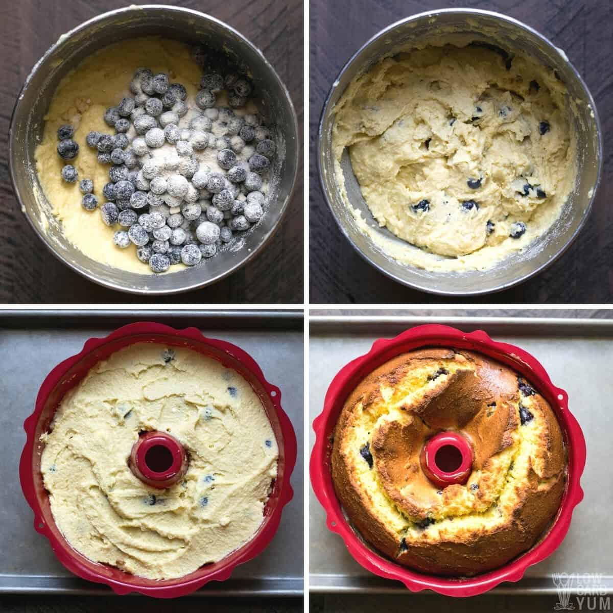 lemon blueberry pound cake recipe steps 3