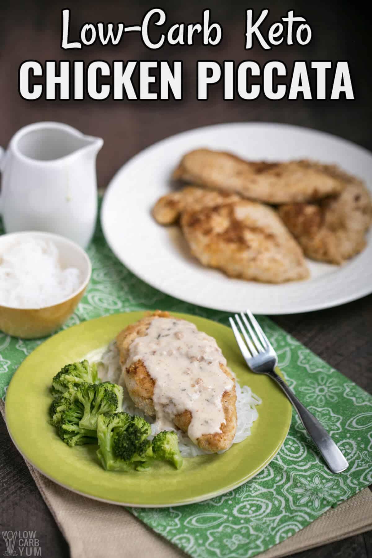 low carb keto chicken piccata recipe cover image