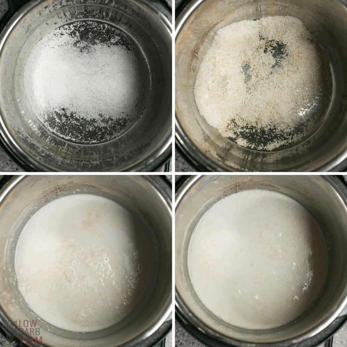 initial steps to make porridge in instant pot