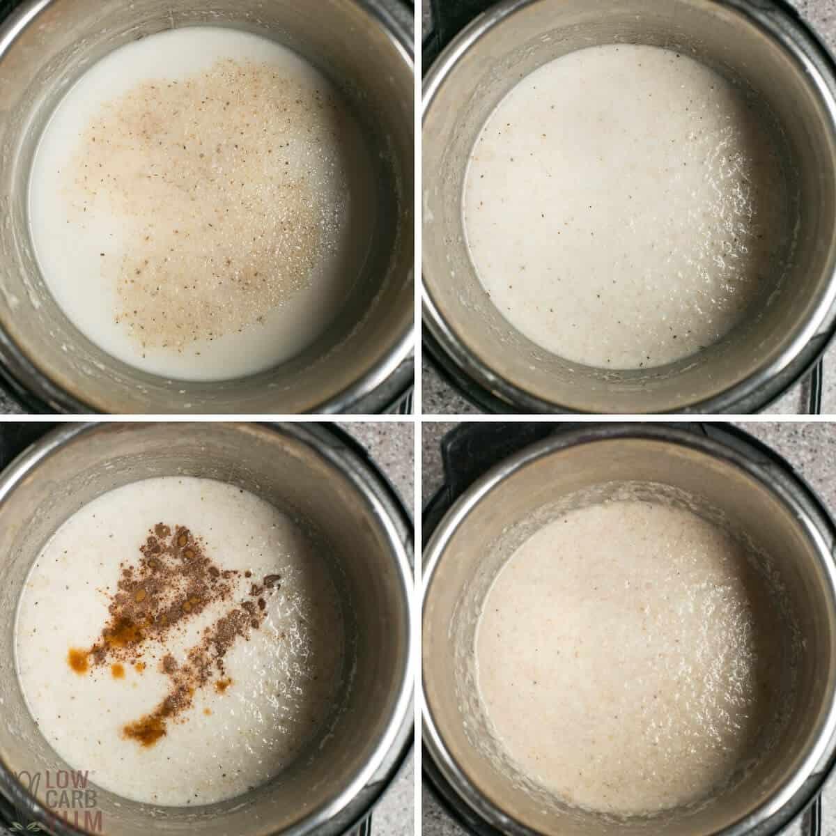 final steps to make porridge in instant pot