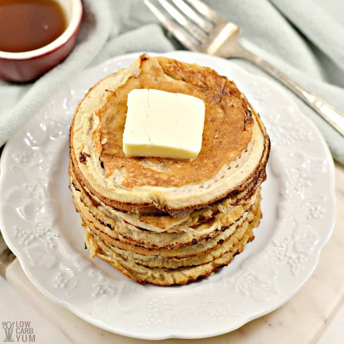 stack of protein pancakes