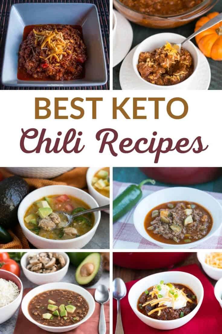 best keto chili recipes pinterest image
