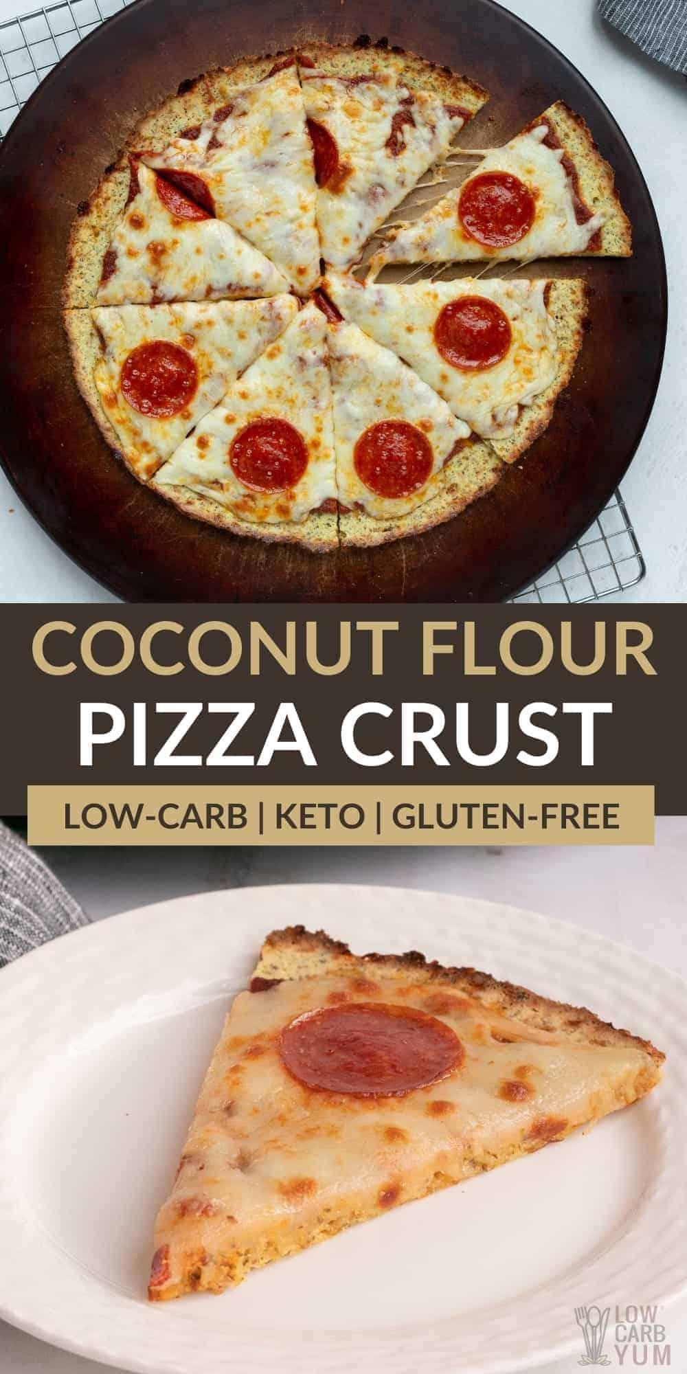 keto coconut flour pizza crust pinterest image