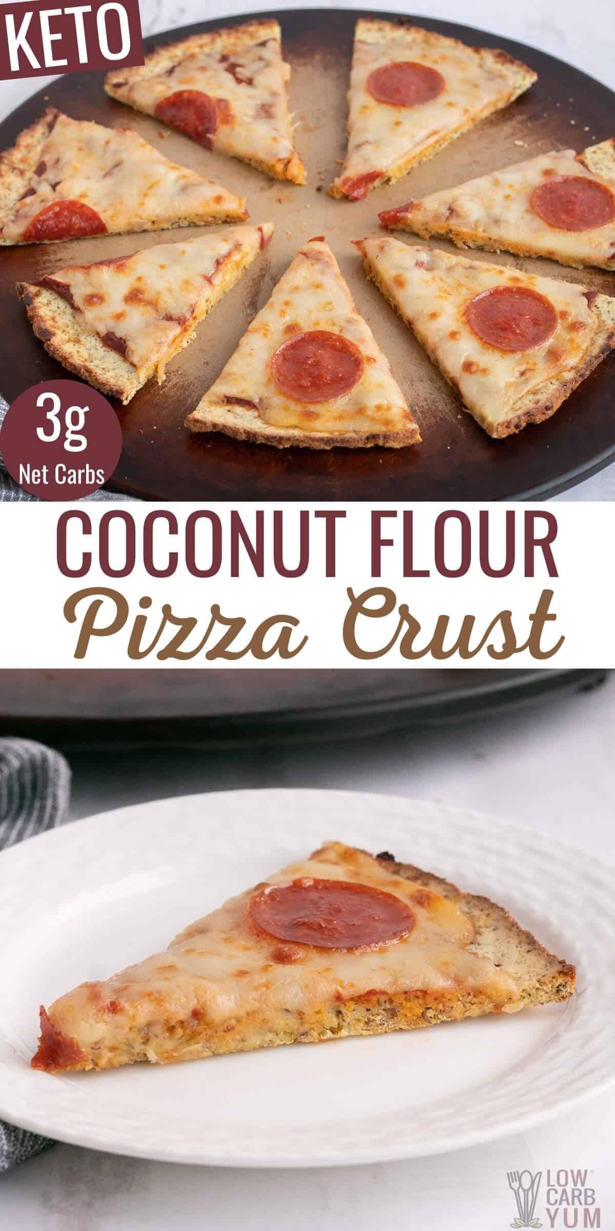 coconut flour pizza crust pinterest image