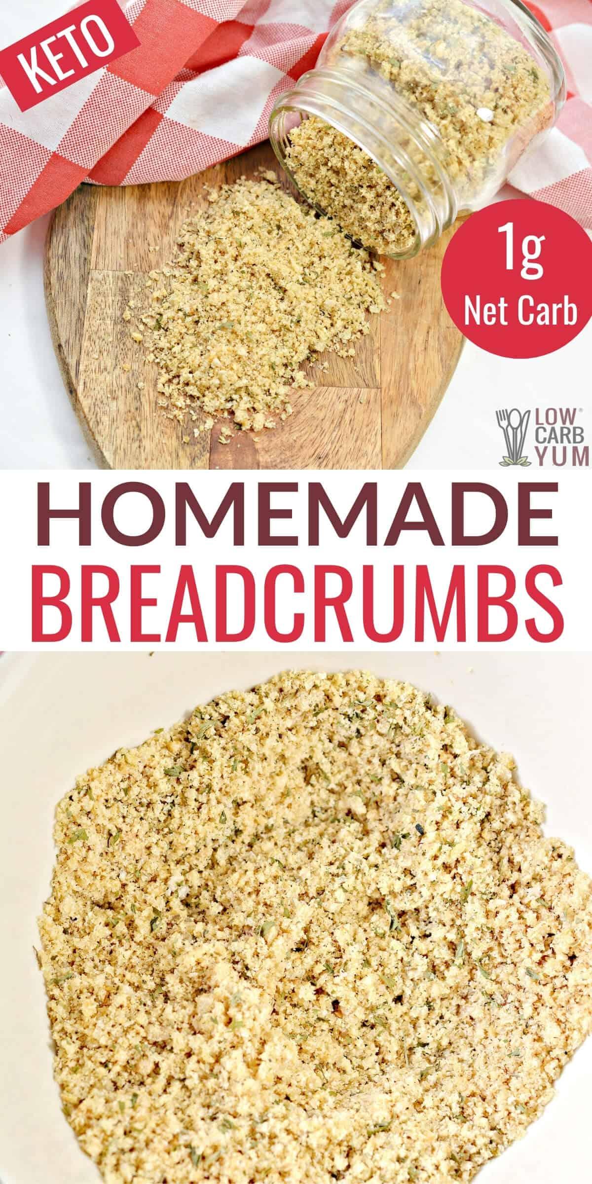 homemade breadcrumbs keto recipe pinterest image