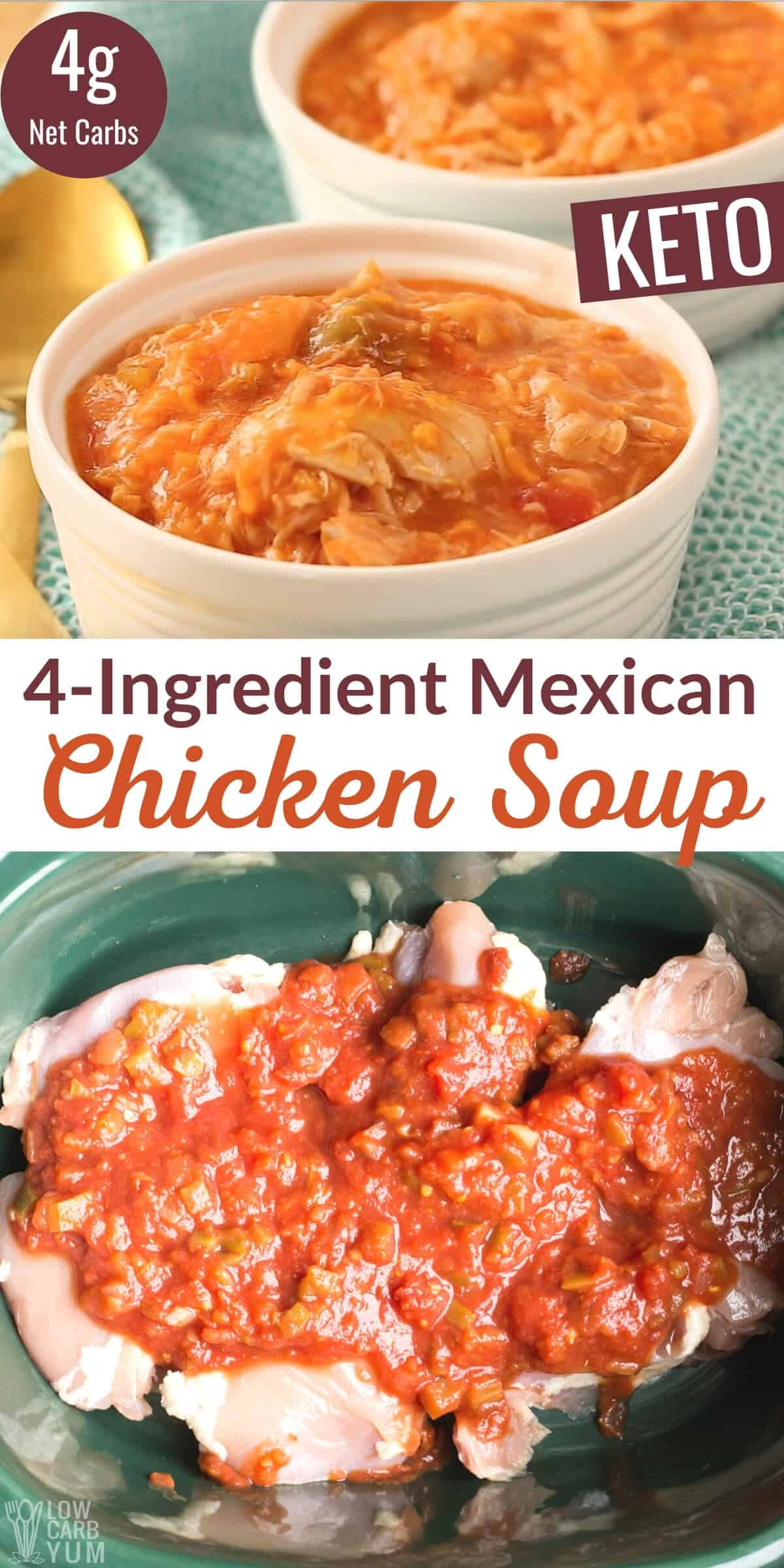 4-ingredient keto mexican chicken soup pinterest image