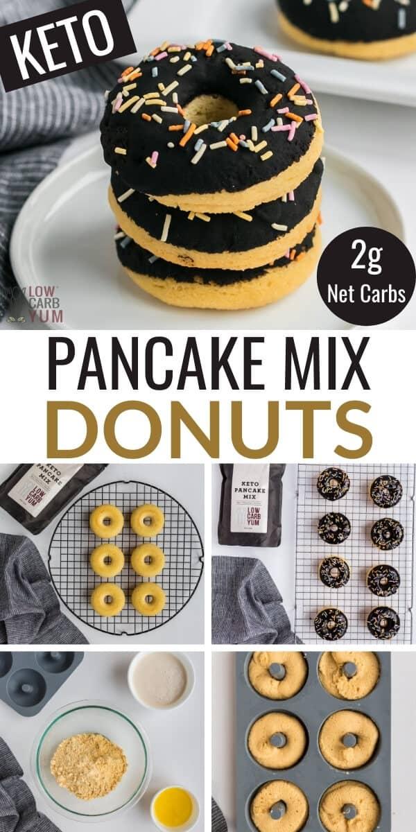 pancake mix donuts pinterest image