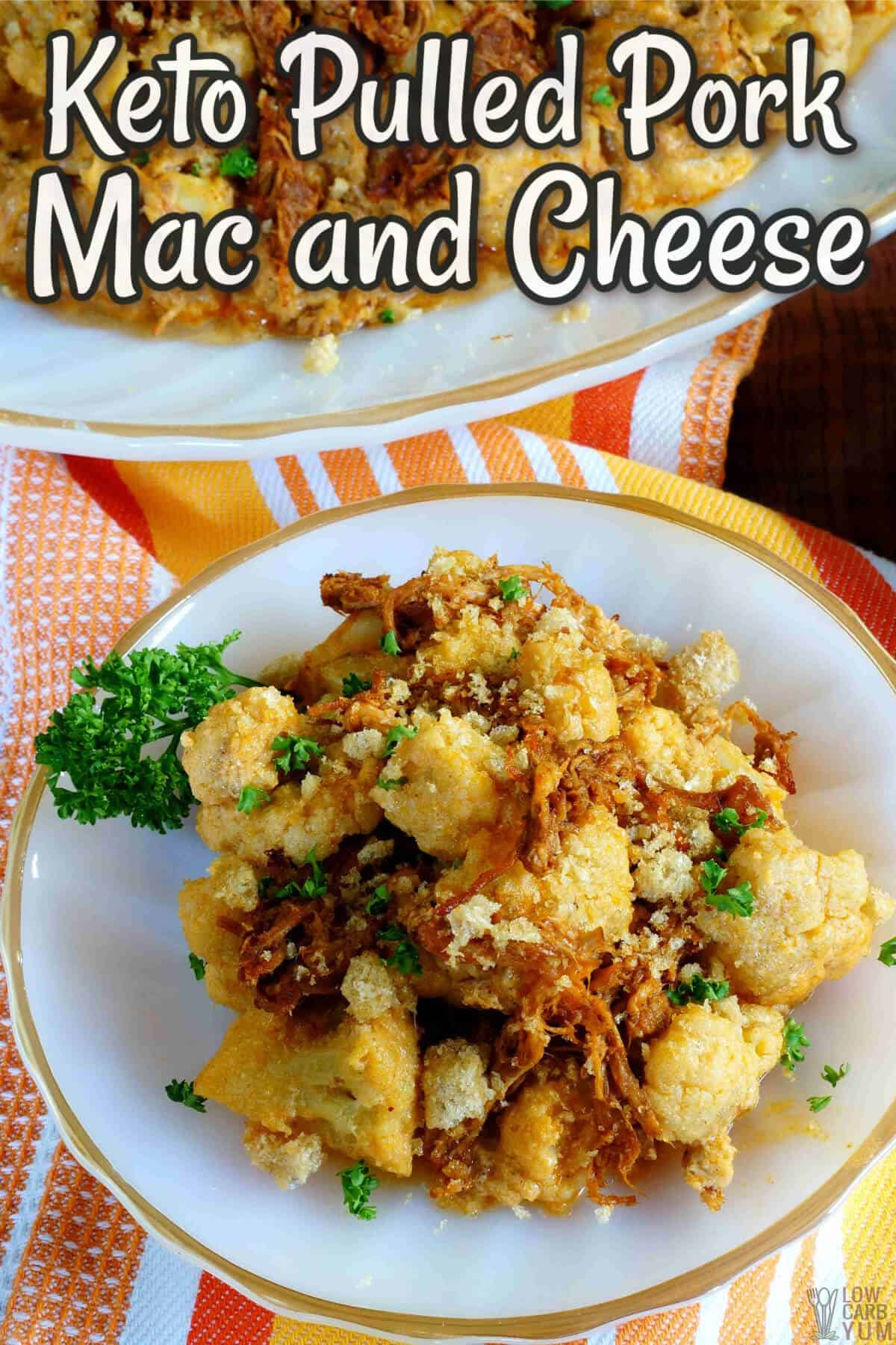 keto pulled pork mac and cheese cover image