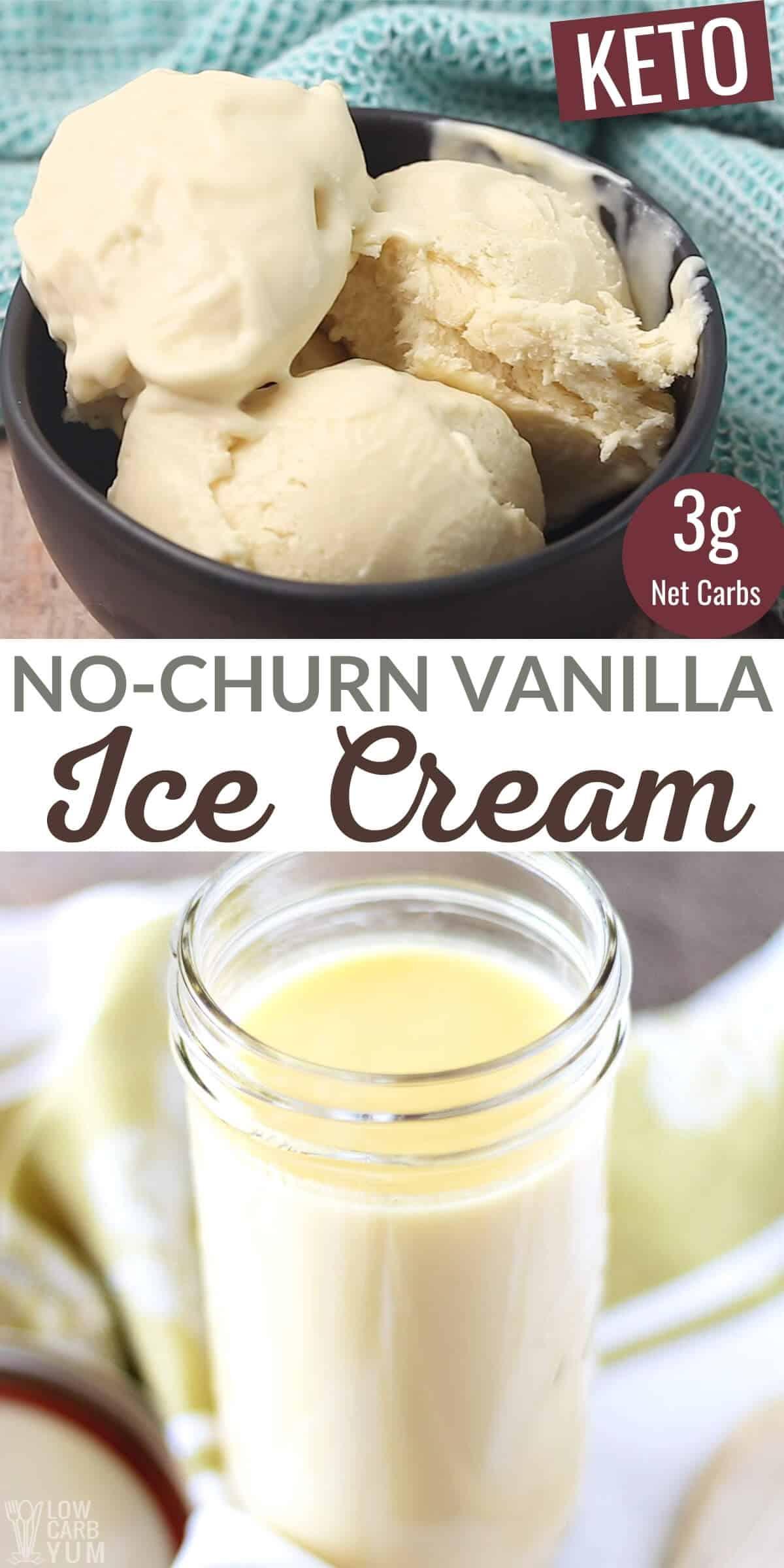 no churn keto vanilla ice cream