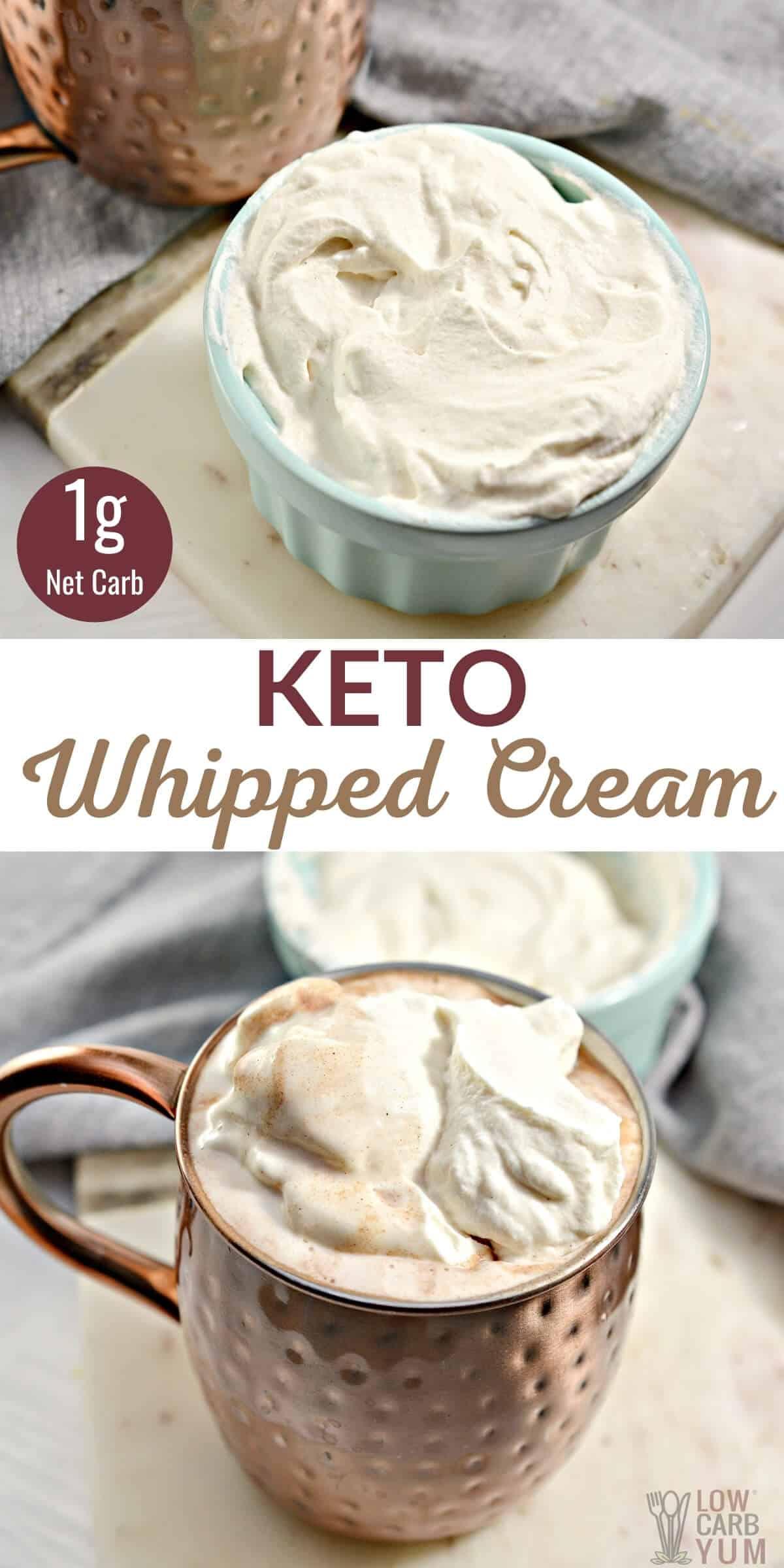 keto whipped cream pinterest image