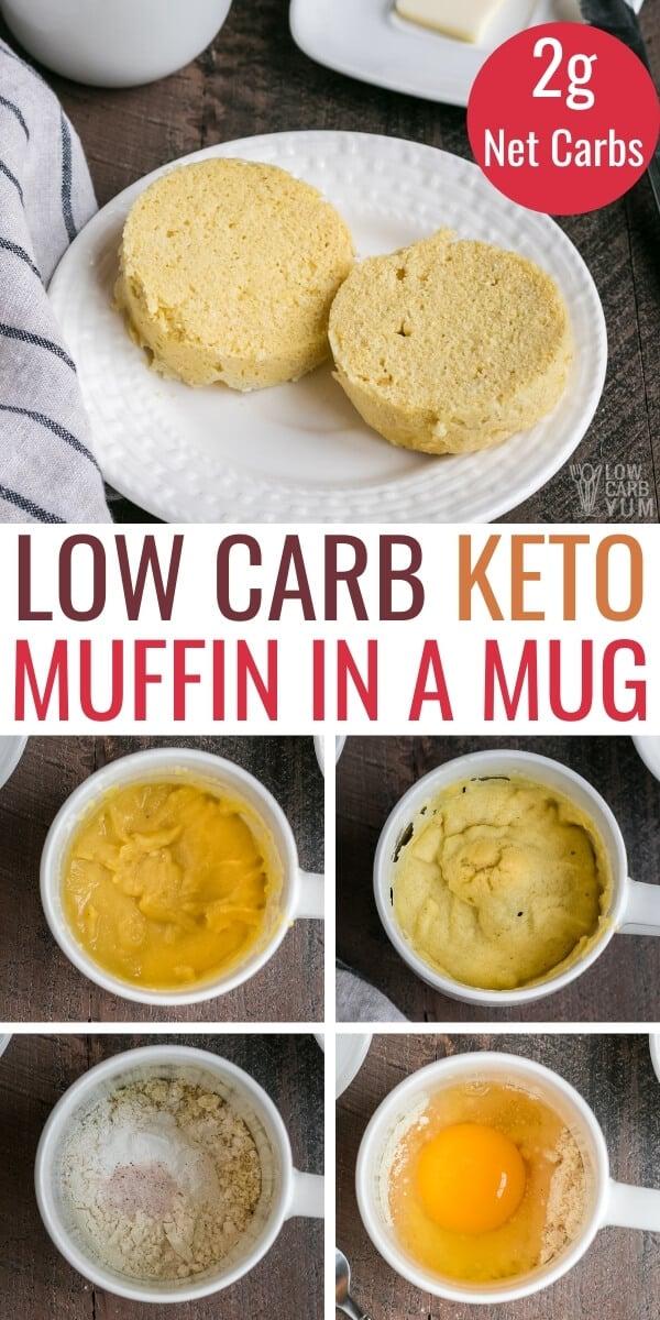 keto muffin in a mug pinterest image