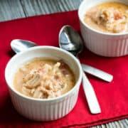 mexican chicken soup in ramekins