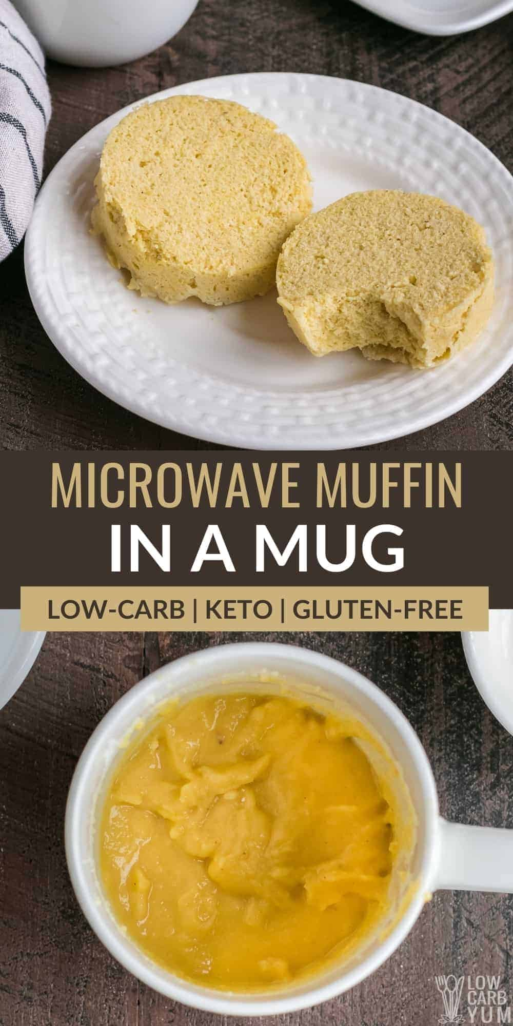 microwave muffin in a mug pinterest image