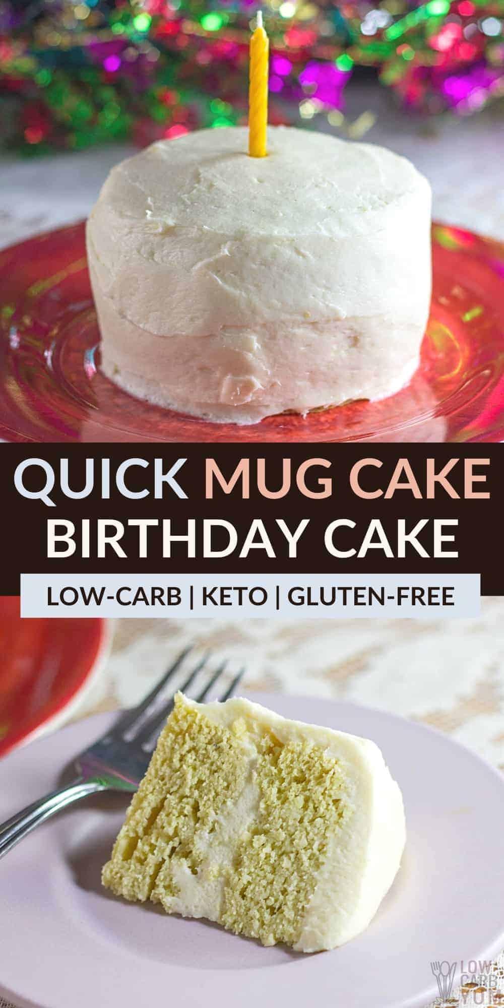 mug cake birthday cake pinterest image