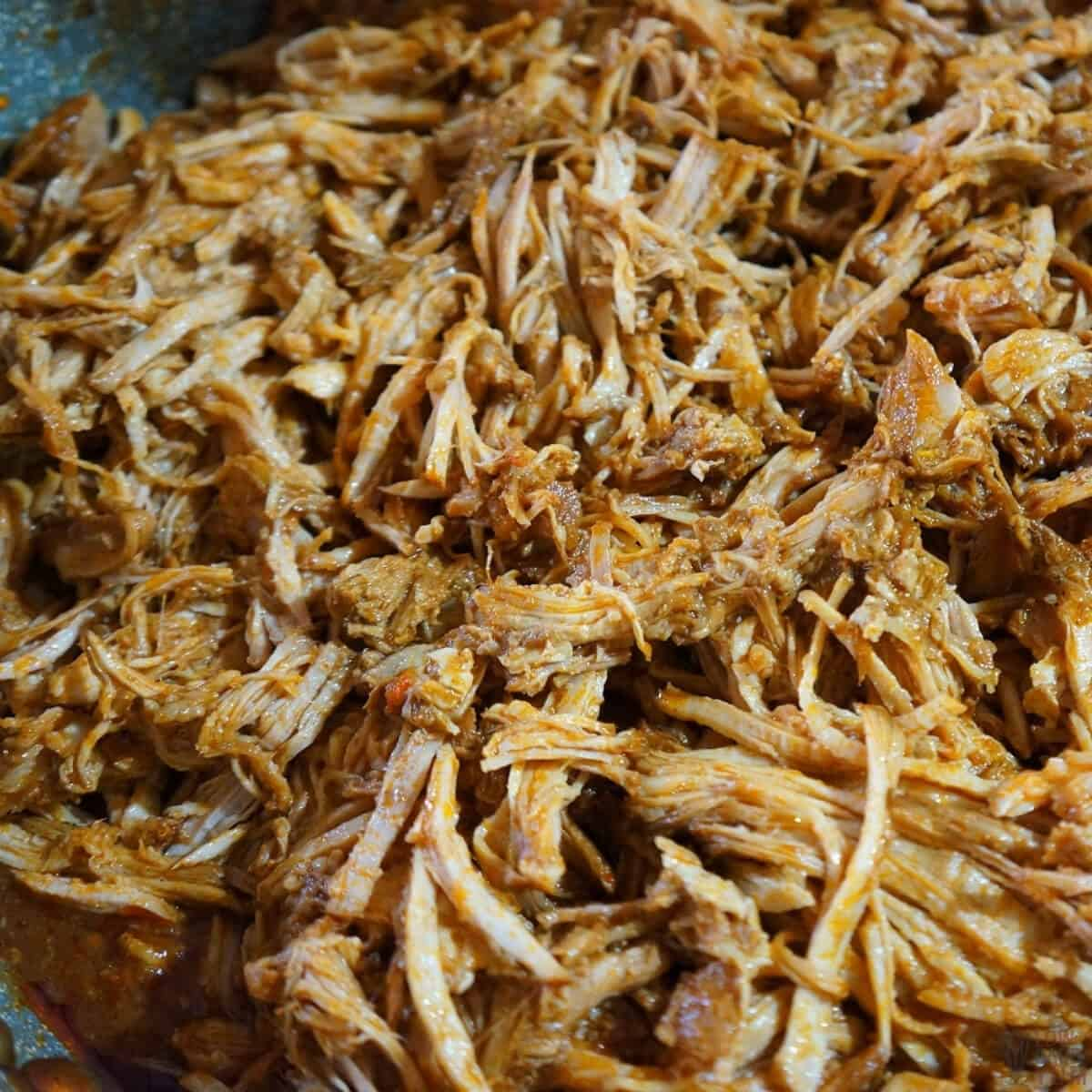 reheating the leftover pulled pork