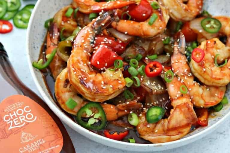 Low-Carb Sweet and Sour Shrimp