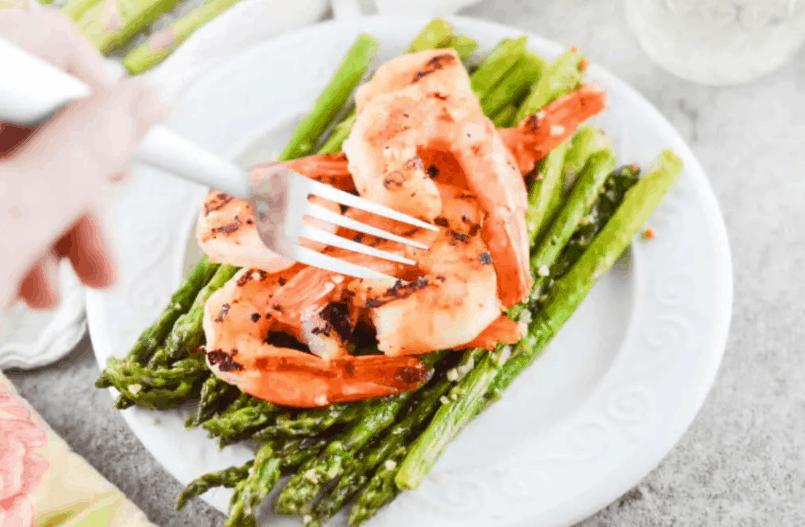 Blacked Shrimp And Asparagus