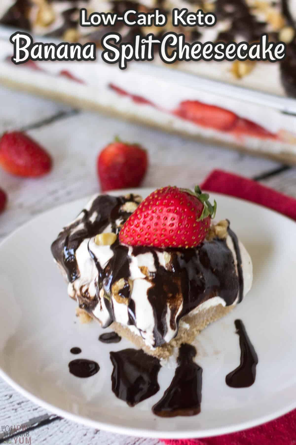 banana split cheesecake cover image