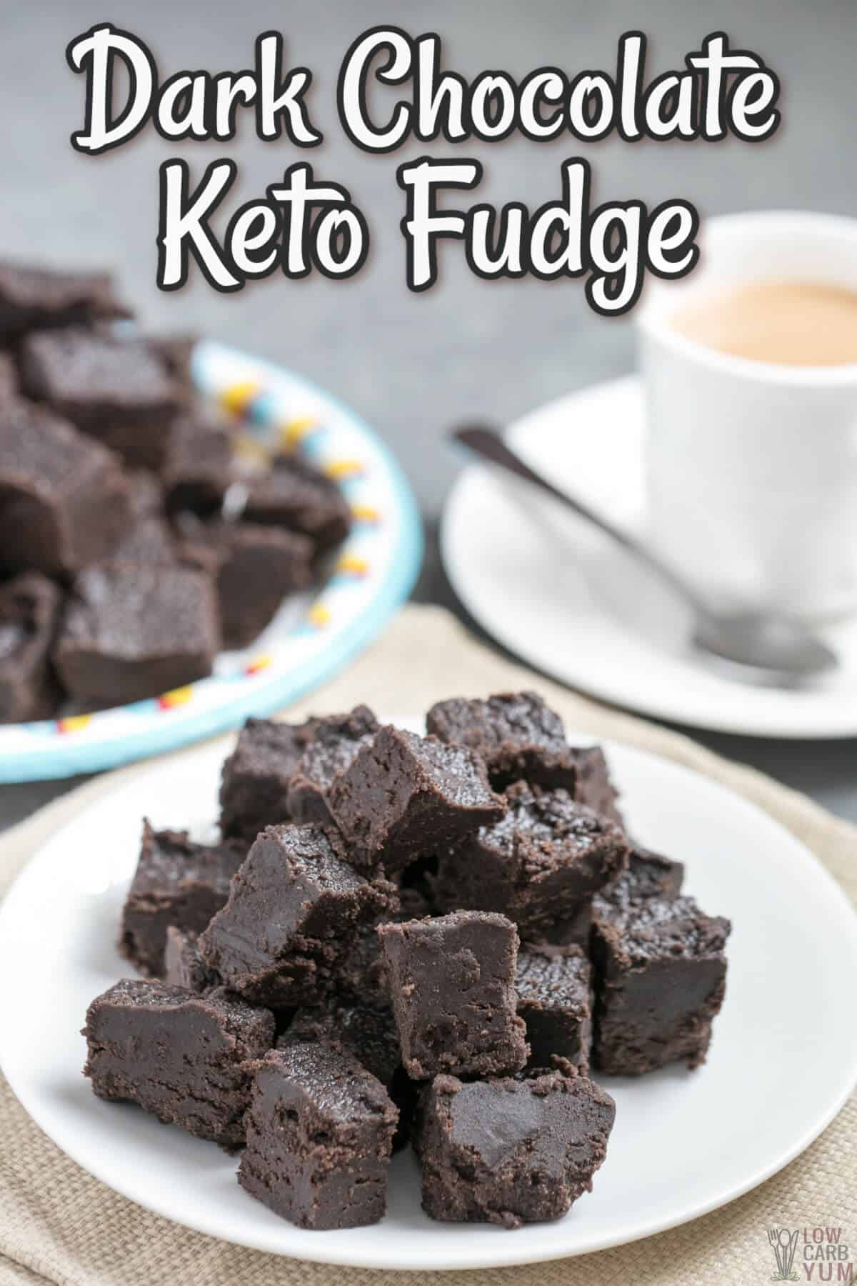 dark chocolate keto fudge cover image