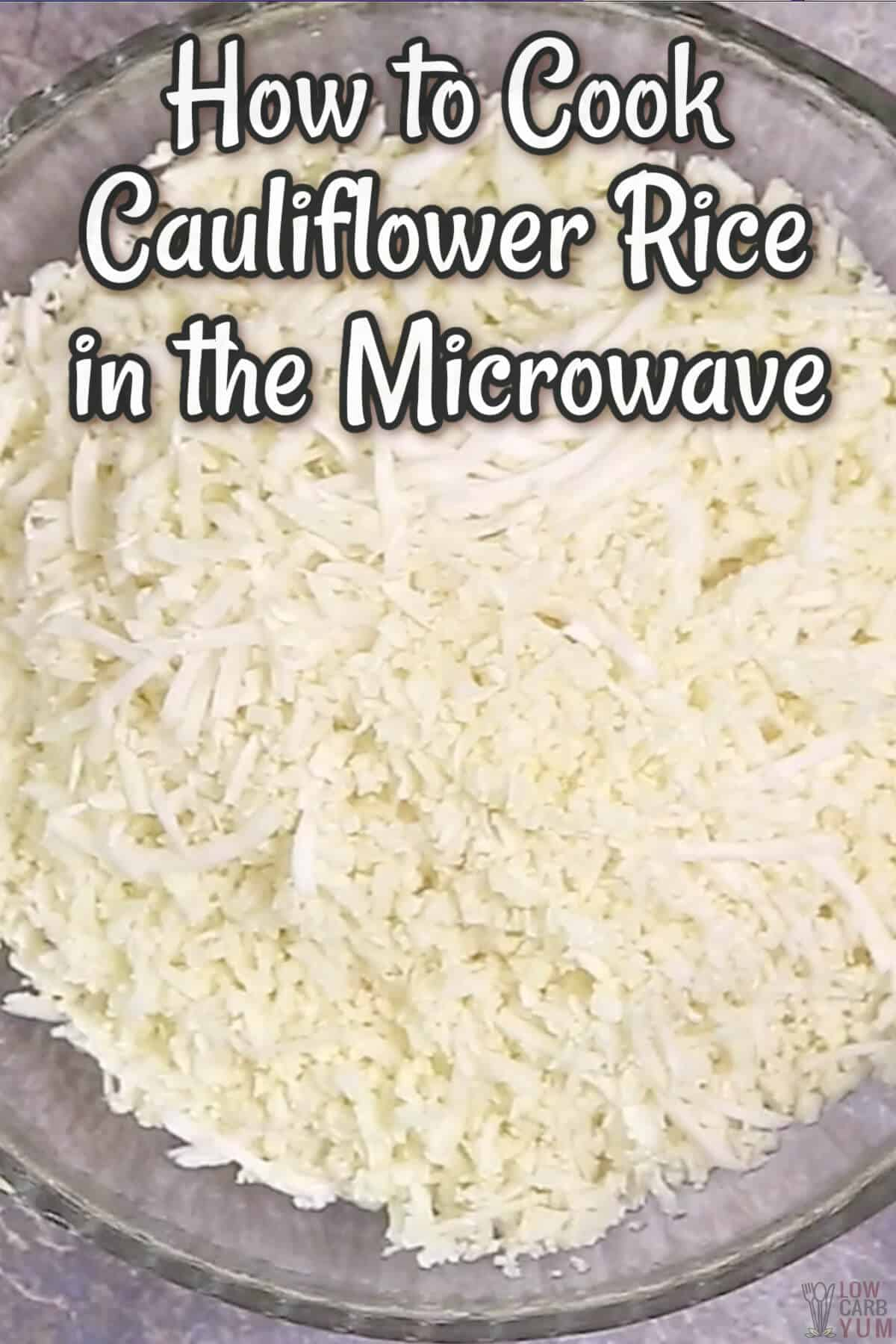 how to cook cauliflower rice in the microwave cover image