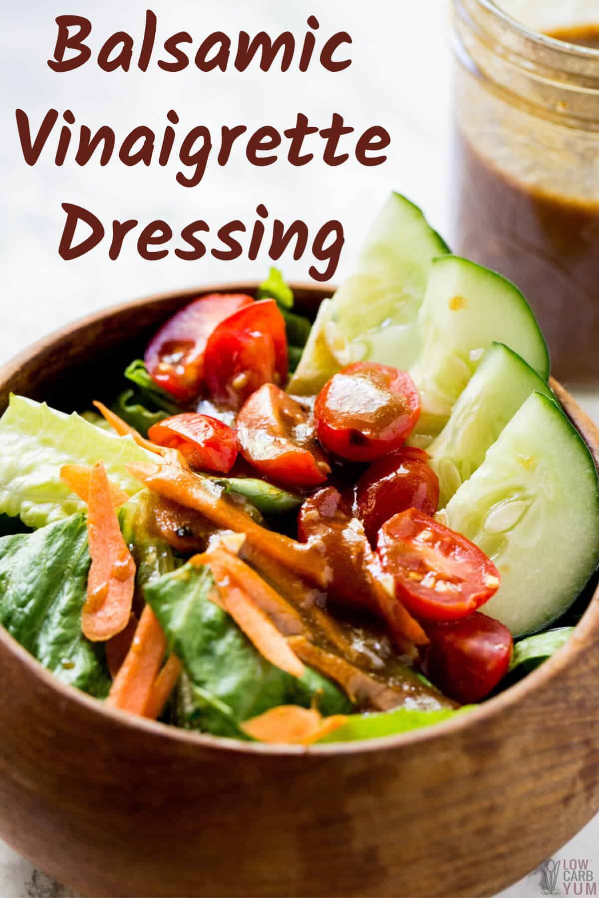 keto balsamic vinaigrette salad dressing cover image