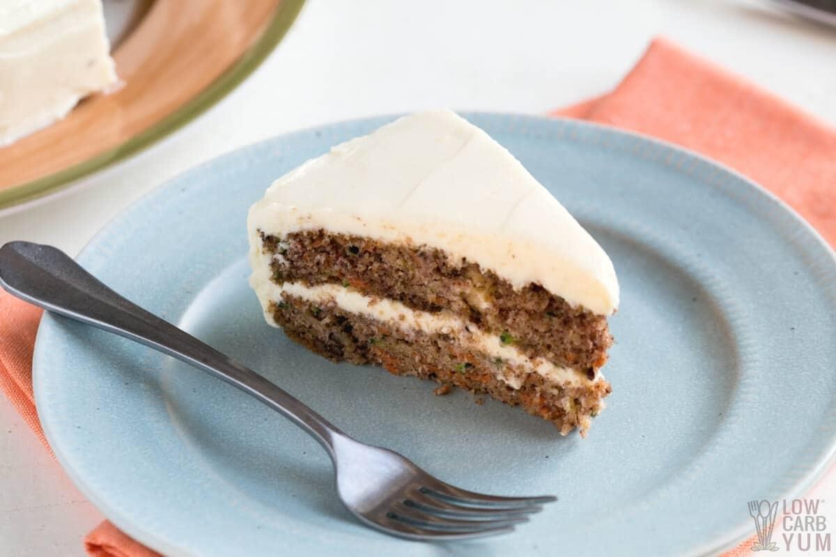 keto carrot cake recipe image