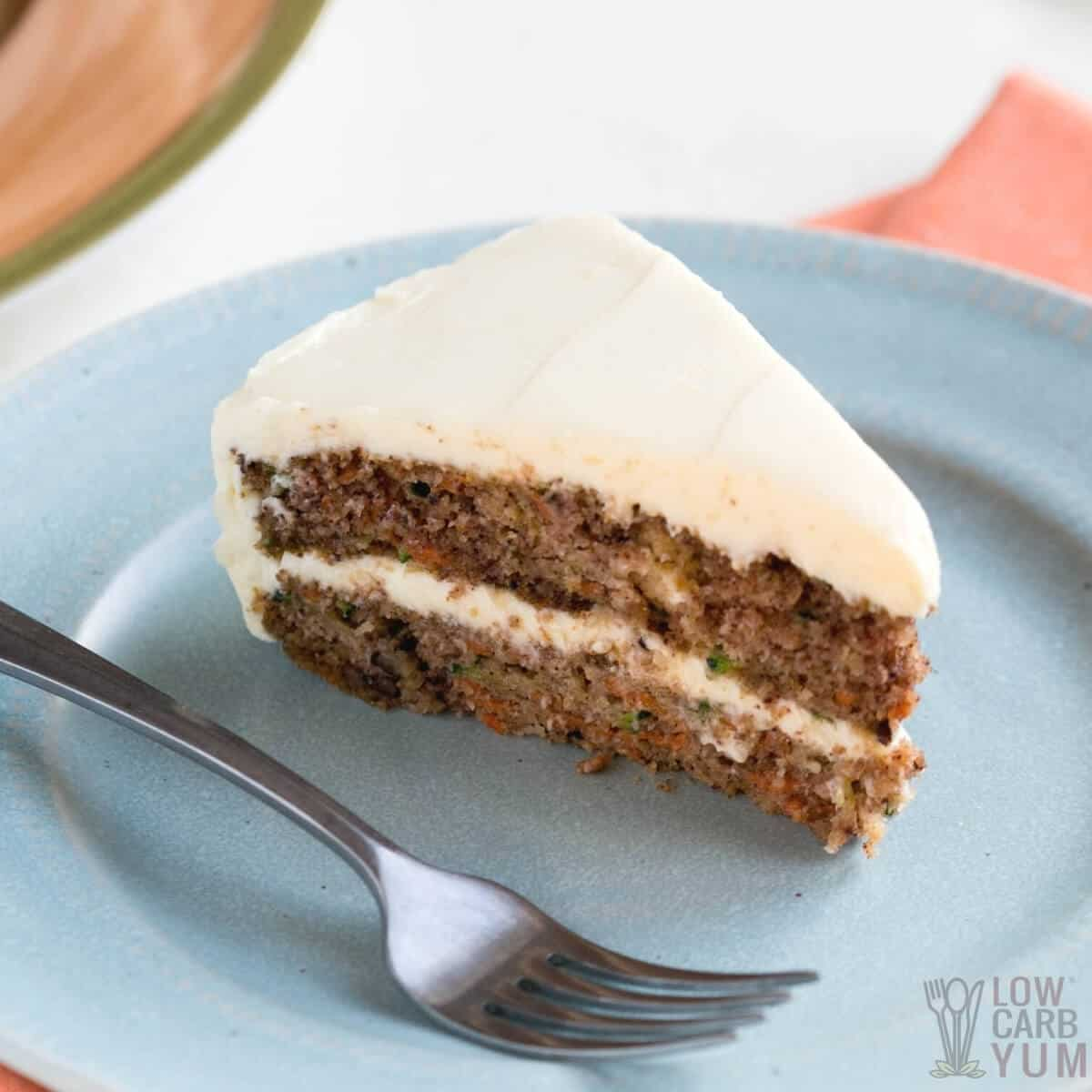 keto carrot cake recipe featured image