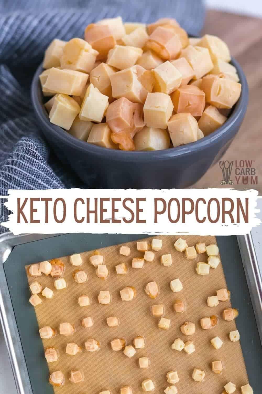 keto cheese popcorn pinterest image