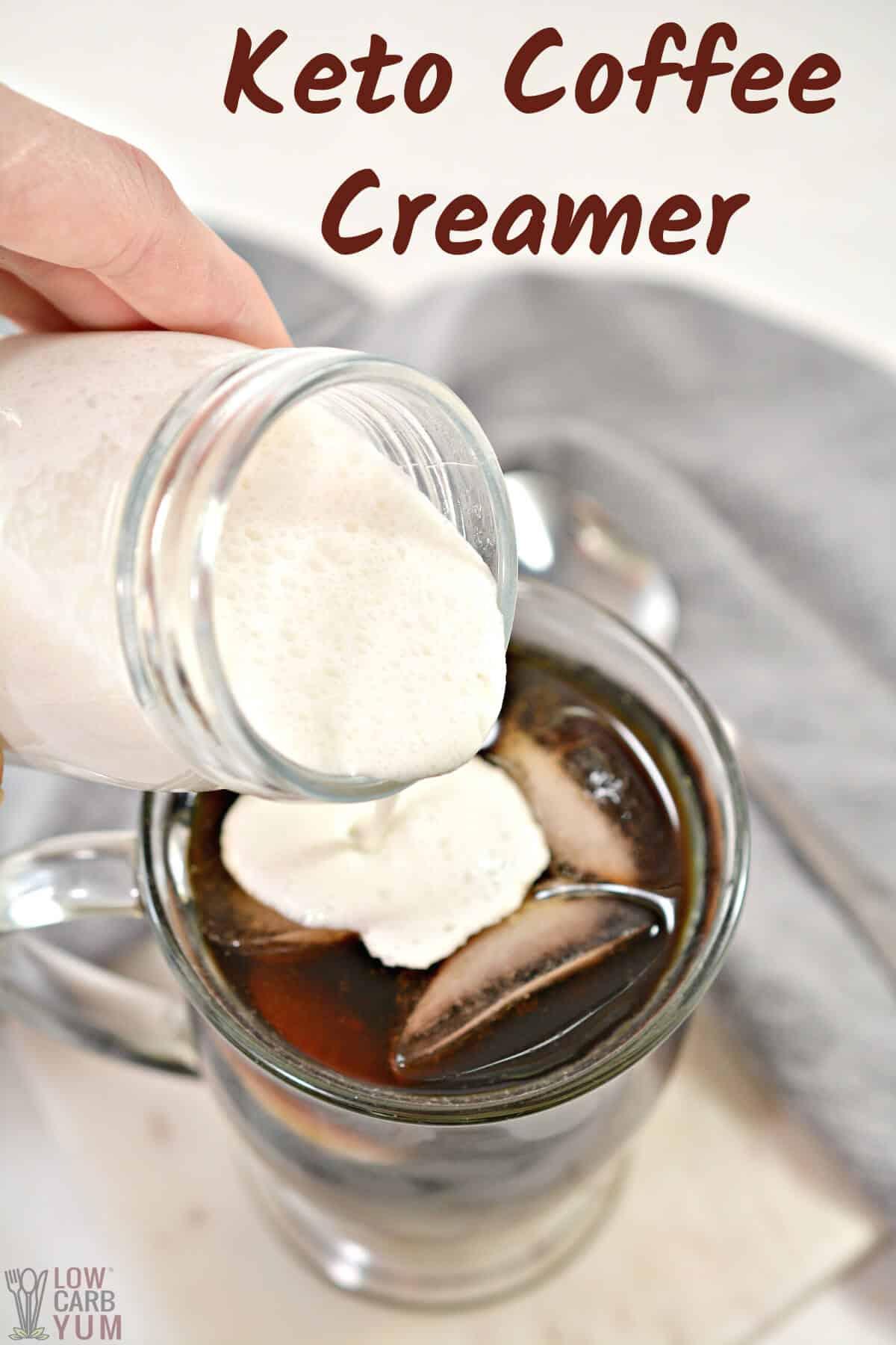 keto coffee creamer recipe cover image