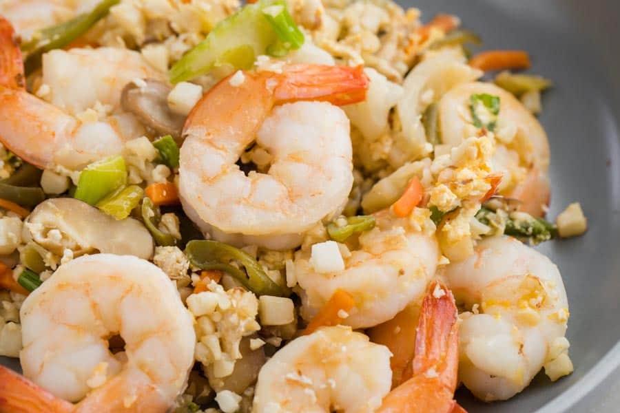 Keto Shrimp Fried Rice
